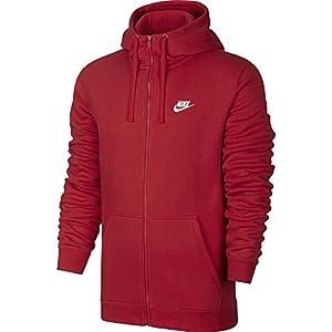 Nike  HOODIE FZ FLC CLUB - Felpa - Rosso ( University Red / White) - 2XL