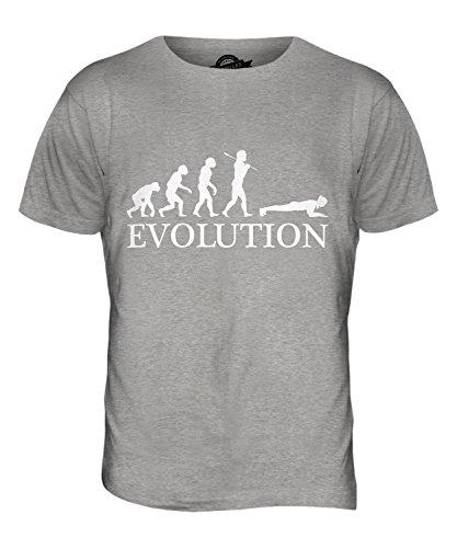 CandyMix Die Planke Evolution Des Menschen Herren T Shirt Grau Meliert