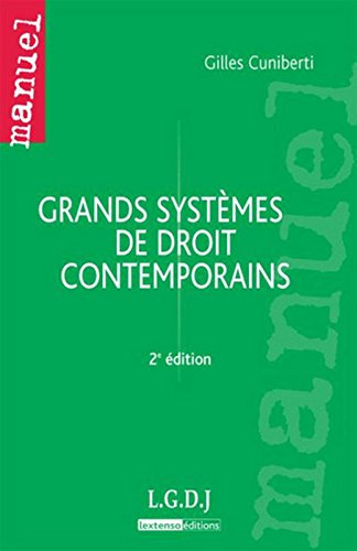 Grands systèmes de droit contemporains, 2ème édition