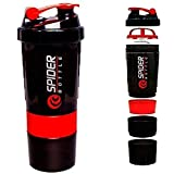 HUMBLE 500 ml Protein Shaker Gym Bottle with 2 Storage Compartments and 1