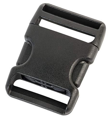 AceCamp 7045Accessoires aus Duraflex 38mm Seite Release Ersatz Schnallen, schwarz