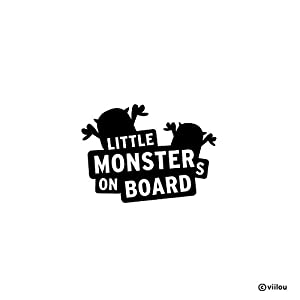Auto Aufkleber baby on board LITTLE MONSTERS ON BOARD Sticker