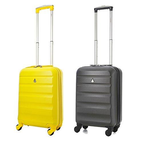 aerolite-abs-bagage-cabine-a-main-valise-rigide-leger-4-roulettes-set-de-2-gris-fonce-jaune