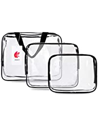FOTEMIX Toiletry Bags 3 in 1 Gift Makeup Bags   Cases Plastic Bag Clear PVC Travel  Bag Brushes Organizer for Men and Women Travel Business… 727e495b94ea4