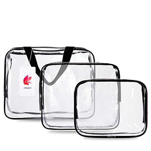 FOTEMIX Kulturbeutel 3 in 1 Geschenk Make-up Taschen & Koffer Plastiktasche Klar PVC Reisetasche Bürsten Organizer für Männer und Frauen Reise Business Bad -