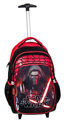 Ragusa-Trade Star Wars Kylo Ren Darth Vader Startrooper Yoda (STK) - Kinder Jungen Mädchen Trolley Rucksack, schwarz/rot, 45 x 29 x 24 (Mädchen Aus Star Wars)