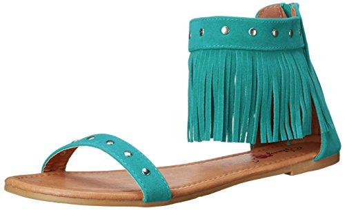 Penny Loves Kenny Totem Femmes Daim Sandales Turquoise