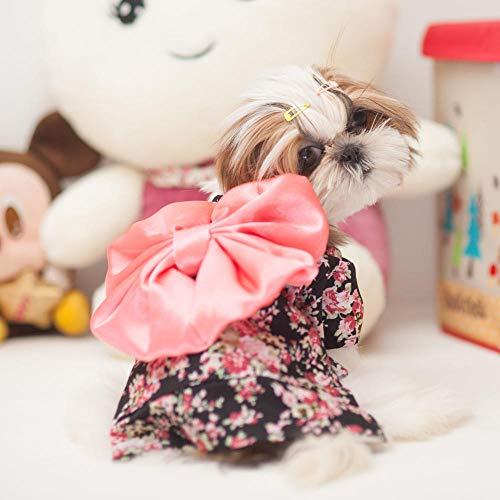 L Pet supplies Mai Hao MKO Hund Kleidung Haustier Kimono Katze Kostüm Teddy Kleiner Hund niedlichen Kleidern Vier Jahreszeiten @ Charm Black_L Nummer - ca. 7-9 kg
