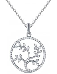 Four Branches Tree Of Life Necklace 925 Silver, Necklace For Women- By Ornate Jewels