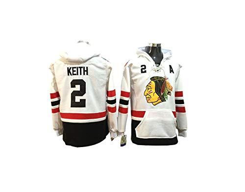 Ice Hockey Jersey Chicago Black Hawks NHL #2 Trikot Zahlen Genähte Buchstaben Kapuzenpulli Langarm-T-Shirt Pullover für Männer und Frauen -