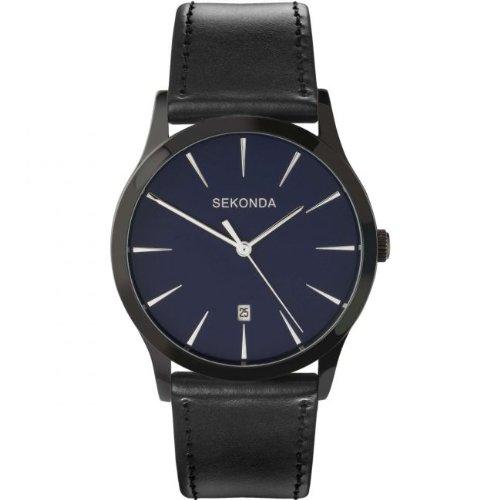sekonda-mens-quartz-watch-with-blue-dial-analogue-display-and-black-pu-strap-353627