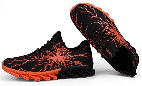 NSPX Scarpe da ginnastica di moda di Lightning Pattern di modo delle scarpe da tennis Scarpe da portare traspiranti di grande formato Scarpe sportive di grandi dimensioni , 41 YZ5BLACKORANGE-40