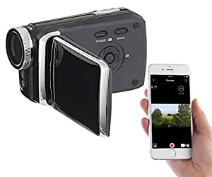 "Somikon Videokamera: Full-HD-Camcorder mit 7,6-cm-Touch-Display (3""), WLAN, App-Steuerung (Digitalkamera)"