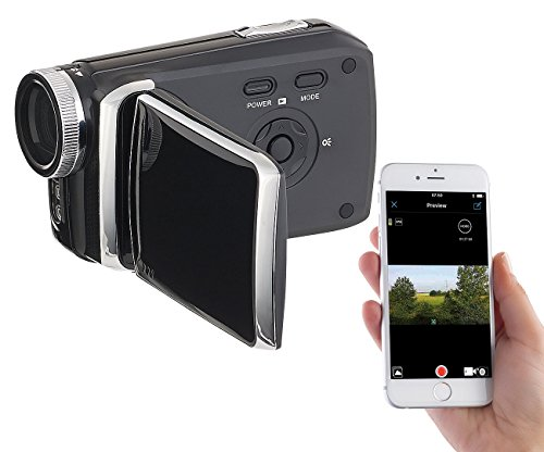 "Somikon Digitalkamera: Full-HD-Camcorder mit 7,6-cm-Touch-Display (3""), WLAN, App-Steuerung (Videokameras)"
