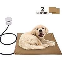 Unitify Heizdecke Haustier Heizkissen für Hunde und Katzen, Regulierbare Temperatur Wasserfest Bettwärmer mit Überzug abnehmbar, Überhitzungsschutz 40 * 30 cm