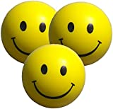 Stress Balls x 3 in Yellow - Stress Ball Sensory Toys - Stress Relief Toys and ADHD Toys