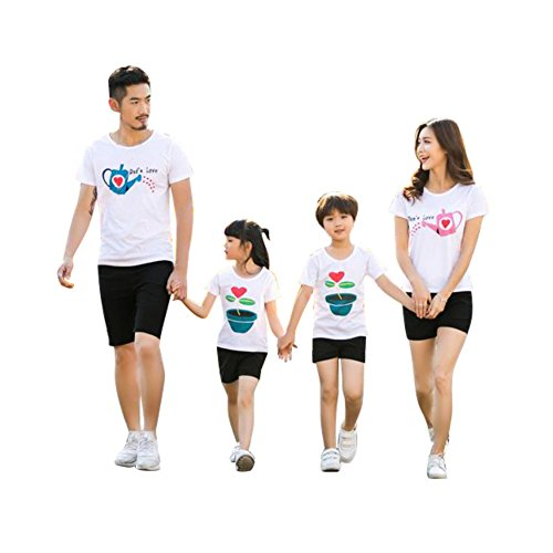 Passende Familie Outfit Frühling Sommer T-Shirt Fashion Tops -
