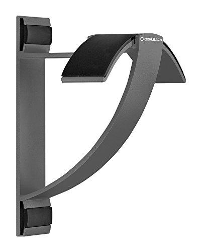 Oehlbach Alu Style W1 - Wandhalterung für Kopfhörer - eloxiertes Aluminium - Schnelle Wandmontage & Optimale Aufbewahrung - anthrazit