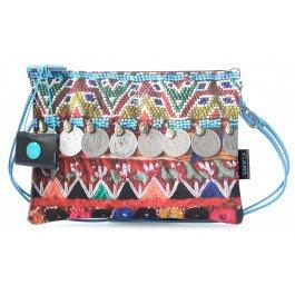 GabsBeyonce - Sacchetto Donna , multicolore (Mehrfarbig (Perline)), 1x21x28 cm (B x H x T)