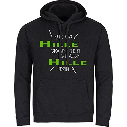 Kapuzen Sweatshirt Nur wo Gröbenzell drauf steht ist auch Gröbenzell drin schwarz Herren Gr. S bis 2XL, Größe:S