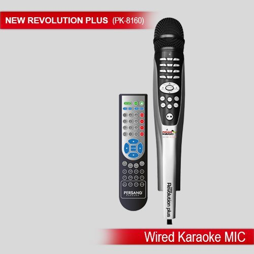 Karaoke Microphone Persang New Revolution Plus PK-8160 Two Wired Mic + 6935 Songs