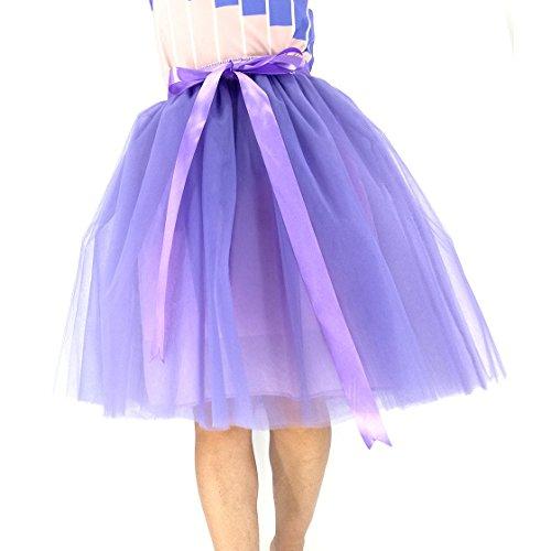 Honeystore Damen's Petticoat 50er Jahre von Honeystore, Retro-Faltenrock perfekt zu Strick und Heels oder Sneakers, Unterrock für Hochzeit und Party 5XL Violett mit Violett (Kostüme 50er Diy Jahre)
