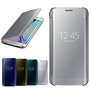 Samsung Clear View Cover for Galaxy S6 Edge (Silver)