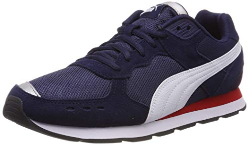 Puma Vista, Zapatillas de Deporte Unisex Adulto, Azul (Peacoat White-High Risk Red), 36 EU