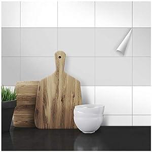 Wandkings Fliesenaufkleber - Wähle eine Farbe & Größe - Hellgrau Seidenmatt - 15 x 20 cm - 20 Stück für Fliesen in Küche, Bad & mehr