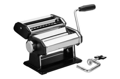 Premier Housewares Nudelmaschine mit Stahlkorpus in Chrom und Schwarz