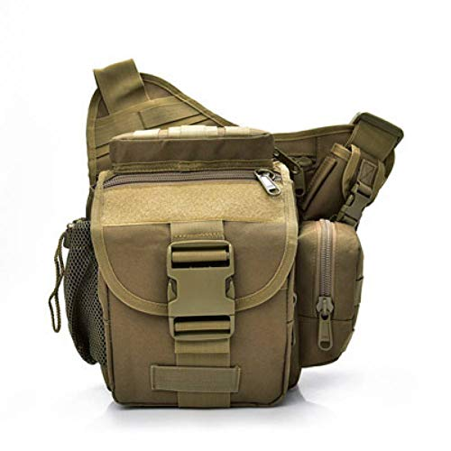 YDDLIE Taktische Tarnung Kamera Pack Frauen Schulter Umhängetasche Männer Sport Armee Tasche wasserdichte Nylon Satteltasche Jagd Tasche (Wolf-kamera Angeln)
