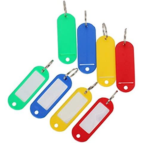Rojo-Amarillo-Azul-Verde al Azar Enviar -50 con la Etiqueta Anillo de Metal Llave de Hotel Número de Tarjeta de Placa de Etiqueta de Equipaje (Embalaje Original)