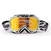 Gafas de Nenki Motocross NK-1018 para niños(blanco negro)