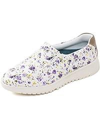 Padders zapatos de las mujeres Plimsoll 'Re-Grow' | Anchura extra grande EE| Cuerno de zapato libre