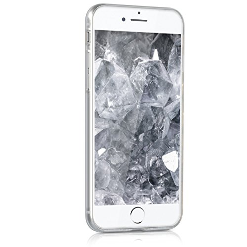 kwmobile ÉTUI EN TPU silicone pour Apple iPhone 6 / 6S Design aluminium brossé anthracite transparent. Étui design très stylé en TPU souple de qualité supérieure 3D Prisma transparent