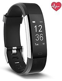 Fitness Tracker con monitor de ritmo cardiaco basado en la muñeca, impermeable Smart IP67 Wristband con Stage Tracker Monitorización del sueño Calculadora de calorías