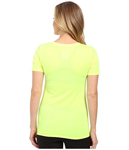 Nike W Nk Dry Vneck Legend Ss Tee - T-Shirt pour femme col V Verde (Volt/Volt)