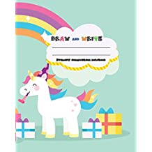Handwriting primary composition notebook, 8 x 10 inch 200 page,Horses softcover: Kids composition book journal for kindergarten first, 2nd, and 3rd grade