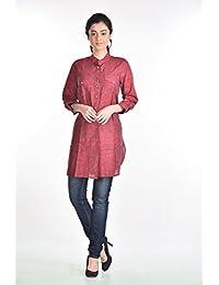 Aaina Women's Maroon Kurti