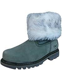 Caterpillar Bruiser Scrunch Forrado de piel de las mujeres botas de invierno