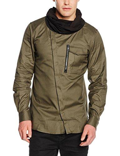Antony Morato Camicia con Doppio Collo Sciarpa, Camicia da Uomo, Verde Loden, 50