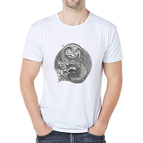 Eaylis Herren T-Shirt Tops Muskelshirt LäSsig Bedrucktes, Einfarbiges Kurzarm-T-Shirt