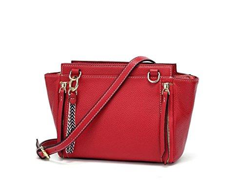 Wings-stoff Red (Frauen Leder Wing Bag Trend Einzelner Schulterbeutel Crossbody Beutel Tote Lederbeutel Fringe Bag,Red-OneSize)