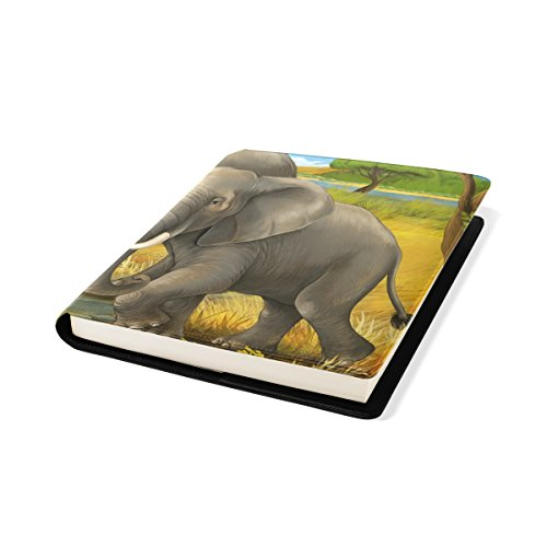COOSUN Los Elefantes Mama y del niño Libro Medias Estirable Cubierta de...