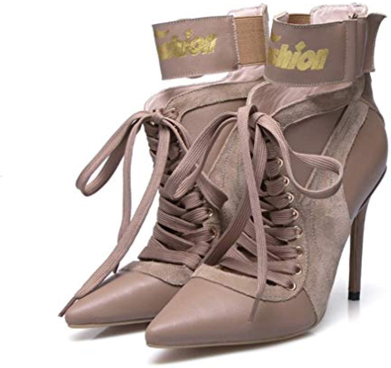 Hy à Bottes à la Mode pour Dames, Bottillons à Hy Talon Aiguille avec personnalité, Chaussures de Ville en Cuir pour...B07KDS935FParent e6de7c