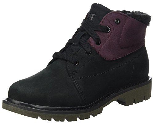 Caterpillar Damen Fret Fur Wp Stiefel, Schwarz (Womens Black/Wine Tasting), 38 (Black Lace Up Womens Boots)