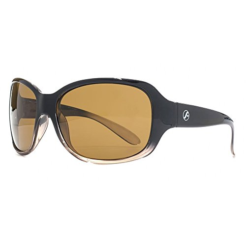 d404355e58 Freedom Polarised Mekong Wrap Sunglasses in Black Crystal Light Brown  FRG145404 One Size Brown Polarised Black