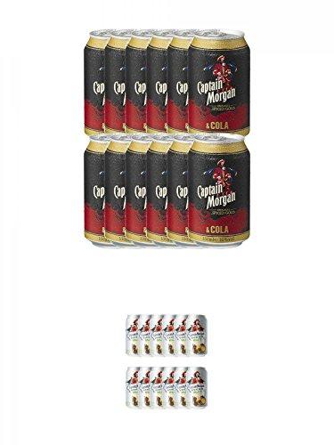 a Dosen 12 x 0,33 Liter + Captain Morgan White Mojito 12 x 0,33 Liter ()