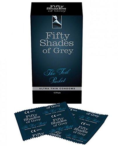 Cinquanta sfumature di grigio Foil Pacchetto Preservativi, 12pezzi