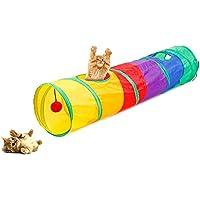 Túnel para Gatos, Juguete del Gato Túnel Extensible Plegable Gato Jugar Túnel Casa del Laberinto del Juguete con Pompón para Gato Gatito Cachorro Conejo